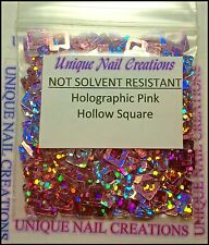 Holographic Pink Hollow SQUARE Spangle ~ Nail Art/Crafts~ USA