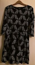 ASOS Owl Print Skater Dress Size 12