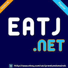 EATJ .net - Rare 4 Letter LLLL Domain Name with word EAT - Godaddy.com 2 3 4 LLL