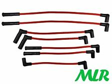 RED 8MM SILICONE IGNITION HT LEADS JEEP GRAND / CHEROKEE / WRANGLER 4.0L MLR.AX
