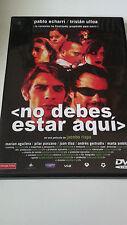 """DVD """"NO DEBES ESTAR AQUI"""" COMO NUEVA JACOBO RISPA PABLO ECHARRI TRISTAN ULLOA"""