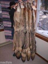 FURS HIDES PELTS TANNED FUR HIDE PELT / CABIN DECOR / COYOTE / BLACK&TAN grade 1