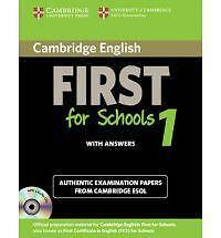 Cambridge English First for Schools 1 Self-study Pack (Student's Book with Answe