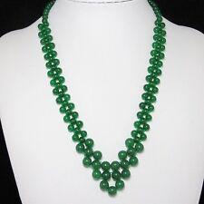 schön Kette 49cm aus grün Jade und 925 Silber