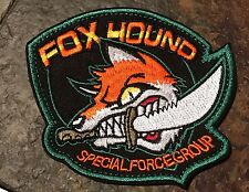 FOX HOUND Special Force Metal Gear Solid Tactical EMBROIDER Hk/Lp Morale Patch