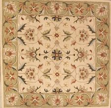 Classic Floral Square Ivory! 12x12 Kashan Persian Agra Oriental Area Rug Carpet