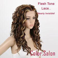 Hand Tied couleur de la peau Lace Front Synthétique Perruque 99#6/12/24 (F)