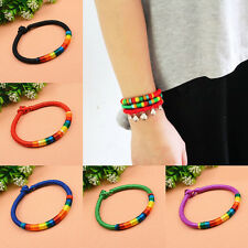 Creative Women Colorful Rope Friendship Bracelet Braided Hippie Bangle Wristband