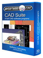 Computer Aided Design CAD Bundle - 4 programmi software PC platform 2D 3D CSG NUOVO