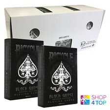 12 DECKS BICYCLE GHOST BLACK ELLUSIONIST PLAYING CARDS MAGIC SEALED BOX CASE NEW