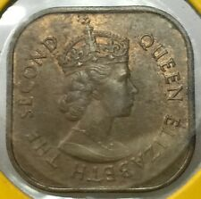 1957 Malaya QEll  1 cent copper coin Bu/unc !
