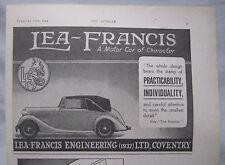 1944 Lea-Francis Original advert No.2