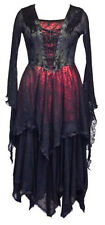 Stunning Gothic Cobweb Dress / Red Black Jordash - Dark Star Free Size 10/16