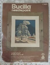 Vintage Bucilla Needlepoint Winter Twillight 4291 Cross Stitch Crewel Kit
