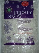 5.25 Qt Buffalo Snow Frosty Flakes Bag Christmas Village Craft Artificial Fake