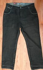 NWT CJ Jeans, Black Denim, Edgy Urban Design, Size 42 x 32  Relaxed Fit (1273)
