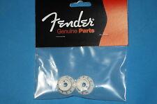 Fender Strat Switch Knob Pair, Parchment f/ S-1 Switch/Pots, MPN 0059267049