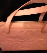 Chanel Authentic CC Logo Pink Patent Leather Handbag BNWT