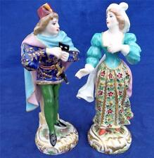 Paire 19th c antique edme samson copies derby porcelain figurines romeo juliette