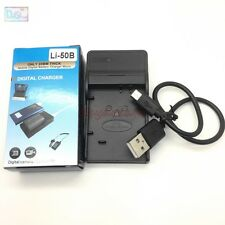 USB Charger for Olympus LI-50B LI-92B NP-BK1 Battery Camera Replace LI-50C