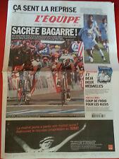 journal  l'équipe 27/07/2002 CYCLISME TOUR DE FRANCE 2002 HUSHOVD MENGIN