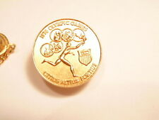 1976 Olympic pin with nude runner and Latin Motto