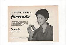Pubblicità epoca 1948 PELLICOLE FERRARIA FOTO PHOTO advertising reklame werbung