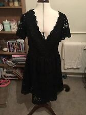Black 50s Style Dress Size 16 Simply Be