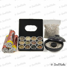 Classic Resin Incense Sampler Starter Kit Gift Set + Charcoal & Burner - JL680