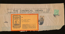 The Chemical News London England, Camera Craft 1920's Envelope Header w/ US &
