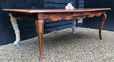 Elegant French Shape Dining Table With Two Extensions Over 7ft Long