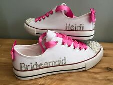 Chief Bridesmaid Flower Girl Maid Of Honour Customised Trainers Pumps Shoes
