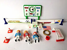 Playmobil  Soccer Arena Set with Scoreboard Players Net Ball Cones