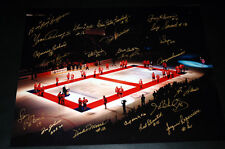 Montreal Forum Closing Ceremony 16 X 20 with 22 facsimile autographs