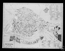 Glass Magic Lantern Slide A MAP OF VENICE C1900 VENICE VENEZIA ITALY