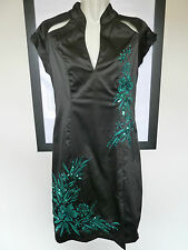 Jane Norman  Satin Oriental Dress Size 12  Wiggle Prom Pencil Chinese