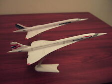 Air France & BA Concorde Pair Model Aeroplanes Plane Supersonic Concorde 1/250