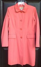 "Talbot's WM MP SALMON COLOR RAIN OR ALL WEATHER COAT 36"" Long/Cotton/Blend/Lined"