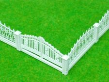 5 Pcs HO OO Scale GARDEN DETACHABLE FENCES for Model Train Layout 3 x 23 cm