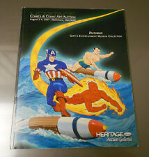 2007 HERITAGE Comics Comic Art Catalog INVADERS Geppi's Museum Collection 118 pg