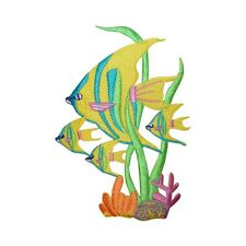 ID 5001 Tropical Fish Embroidered Iron On Applique Patch