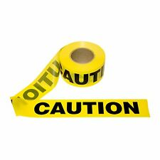 "T15101- 1 Roll- Yellow Barrier Caution Tape 1.5 MIL 3""X1000 Ft. Free US Shipping"