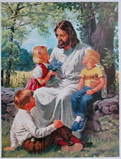 Jesus with 1960s Children by John Walter