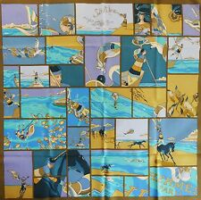 NWT HERMES Soie Libre SILK SCARF Virginie Jamin Vacation Travel Horse Diving