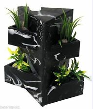 HAGEN FLUVAL EDGE AQUARIUM FISH TANK BLACK MARBLE EFFECT ORNAMENT + PLANT HOLDER
