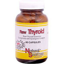 RAW THYROID, Freeze Dried, 390mg x 90Caps, Natural Sources, 24Hr Dispatch