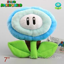 Super Mario Brothers Ice Flower Plant Decoration Plush Doll 7 Inch Collection