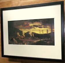 The Opening of the Wilderness by Thomas Rossiter, 20''x16'' frame, Old Trains