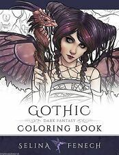 Gothic Fantasy Fairies Dragons Art Adult Coloring Book Witches Magical Angels