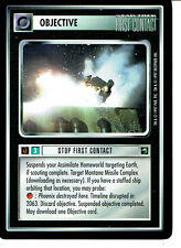 STAR TREK CCG FIRST CONTACT RARE CARD STOP FIRST CONTACT